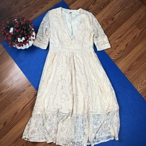 Free people maxi dress lace SZ 6
